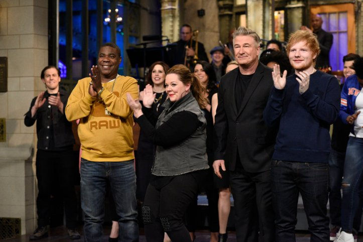 From the Set: Alec Baldwin and Ed Sheeran